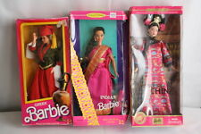 Barbie Princess Dolls of the World Lot of 3 in Box Greek China Indian