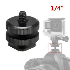"""1/4"""" Camera Dual Hot Shoe Adapter Mount for GoPro DSLR Video Light Stand TW"""