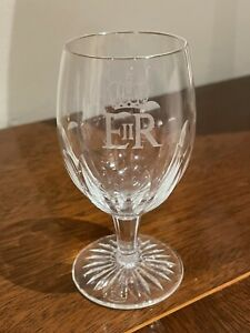Royal Provenance Buckingham Palace EIIR Crown Brierley Crystal Sherry Glass