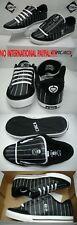 New Mens 8.5 CIRCA Lopez 50 Black Leather Skate Shoes Skull & Bones