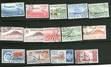 KUWAIT STAMPS (WITH BRITISH OVERPRINTS) MOSTLY USED-HINGED