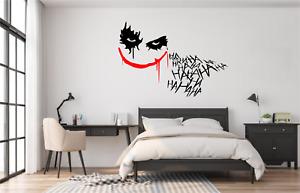 The Joker Batman HAHA Wall Art Sticker Decal Home Decor SU28