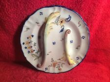 Beautiful Antique Rouen Faience Asparagus Plate c.1800's, ff479  GIFT QUALITY!!