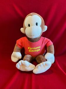 """APPLAUSE Large Classic 16"""" Stuffed Plush CURIOUS GEORGE Red Shirt"""