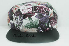 Floral Strapback 5-Panel Cap New Adjustable Crown