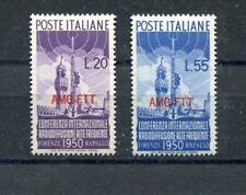 Italia  Trieste A 1950 76-77 conferenza radiodiffusione ad alte frequente Mnh