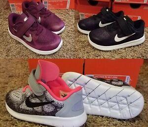 Girl's Nike FREE RN 2017 (TDV) Toddler Infant Running Shoe  904261 001 Size 9-10