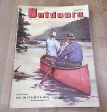 1947 July Outdoors   Hunting & Fishing Magazine Bass are Bashful  >