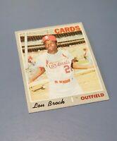 1970 Topps Lou Brock St. Louis Cardinals Major League Baseball MLB Card