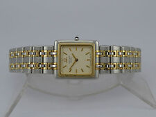 Japan Seiko Credor pattern dial 18K Gold bezel SS bracelet quartz dressing watch