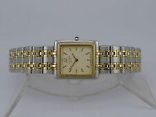Japan Seiko Credor pattern dial 18K Gold bezel SS bracelet quartz dressing watch