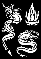 Dragon Temporary Tattoo #Henna Glitter Stencil Sticker Body Art Vinyl