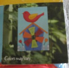 """New listing Mini Flag Pinwheel Banner Red/Yellow Bird on Birdhouse 12X18"""" *New In Package*"""