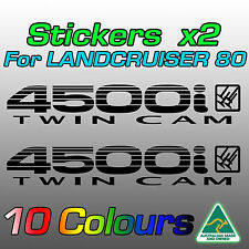 Stickers decals for Land Cruiser 80 series 4500i Twin Cam  **Premium Quality**
