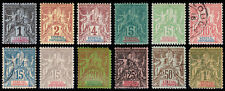 Senegal Scott 35-39, 41-45, 50, 52 (1892-1900) Mint/Used H G-F-VF, CV $117.50 B