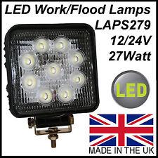 Lampe de travail LED Carré Lumière d'inondation 1600 lumen 9 LED 12 / 24V Tracteur récupération