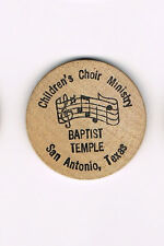 Vintage Wooden Nickel Baptist Temple San Antonio Tx Choir Wooden You Love Sing