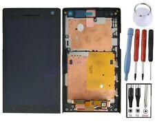 ECRAN LCD + VITRE TACTILE SUR CHASSIS BLOC COMPLET POUR SONY XPERIA S LT26i NOIR