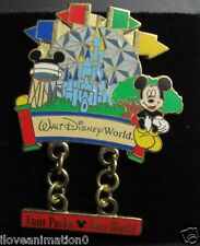 Disney Four Parks One World Mickey Mouse Pin