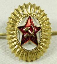 Original Soviet Russian Army Officer Uniform Military Hat Cap Beret Badge USSR