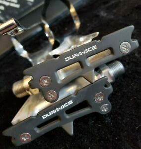 Shimano Dura Ace  NOS PD-7400 Pedals with Large toe Clips Vintage Bicycle Eroica