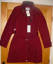 COLE HAAN BURGUNDY QUILTED COAT WOMENS SIZE M BNWT rrp 220$ US