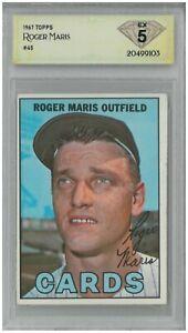 1967 Topps ROGER MARIS #45 💎 DSG 5