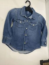 gap denim sz 3 years button up shirt