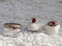 3 Damenringe, Sterling Silber -925-, Gr. 52, aus Juweliersauflösung! (amrg-66)