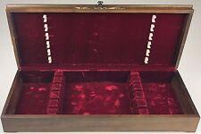 """Oneida Velvet Lined Wooden Silverware Flatware Storage Box Chest (20""""x8""""x3 3/8"""")"""
