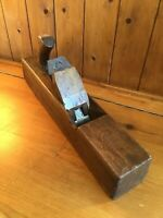 Vintage Large Carpenters Wooden Block Plane - SORBY Iron -Lovely Patina