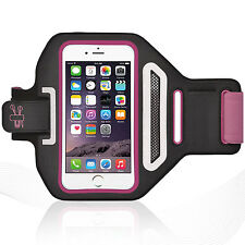 "iPhone 6/6S Plus 5.5"" HotPink Lycra Armband Running Reflective CreditCard Holder"