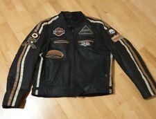 Retro Motorrad Leder Jacke, Cafe Racer Biker Leder Jacke, Harley-Davidson XXL