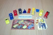DISNEY CARS 3 COMPLETE SET OF 8 WITH ALL PAPERS KINDER SURPRISE 2018