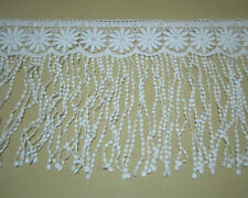 "12""* 1Yard Tassel Fringe Off White Venise/Venice Lace Trim Sewing Polyester"