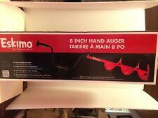"New Eskimo Hand Ice Auger 8"" w/Dual-Flat Blade Hd08"