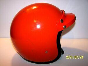 Vintage BELL RT DOT Road & Trail Open Face ORANGE Motorcycle Helmet Size: 7 1/4