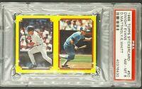 1988 Topps StickerCard Sticker 50 Dwight Evans Don Mattingly PSA 8 Highest Grade