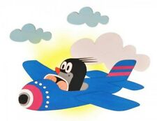 HEBA-Germany Wandlampe Maulwurf mit Flugzeug