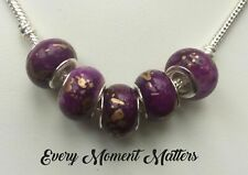 PURPLE & LILAC EUROPEAN STYLE CHARMS & BEADS RHINESTONE & ENAMEL VARIOUS STYLES