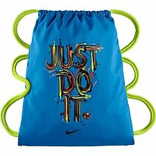 Nike Boy's Gym Sack Drawstring Shoe Bag Blue Graphic