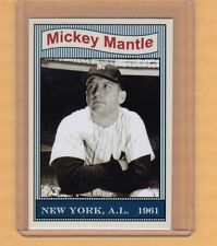 Mickey Mantle '61 Yankees 50th Anniversary set card #2 only 100 exist