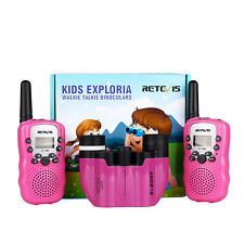 Retevis Rt388 Kids Walkie Talkie Two-Way Radio+8x21 Porro Binocular for Children