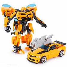 "Transformers ""CONVERTS TO CAR"" Bumblebee Robots Action Figures Toys"