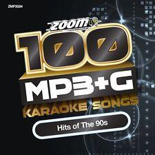 Zoom Karaoke 100 Mp3 G Tracks - Hits of The 90s PC Dvd-rom