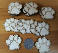 20x 40mm DOG ANIMAL PAW SHAPES 3mm - PLY SHAPES CRAFT TAG