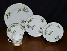 Noritake Orient 5054 - 5 Piece Place Setting Bamboo Plate Cup Beautiful Vintage
