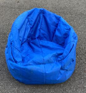 "Big Joe Milano Bean Bag Gaming Chair Blue 32"" x 28"" x 25 Just Add Filler"
