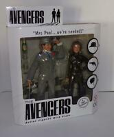 The Avengers Deluxe Mrs Peel & Steed Action Figure LE Box Set Cult Classic RARE