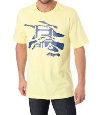 tee-shirt manches courtes FILA jaune imprimé taille L - neuf